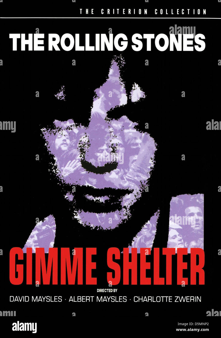 MICK JAGGER POSTER GIMME SHELTER (1970) - Stock Image