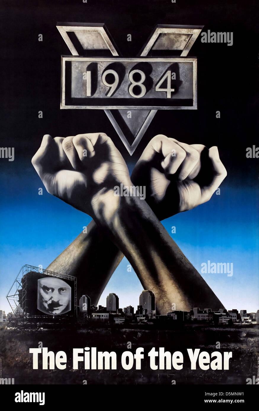 Movie Poster 1984 Nineteen Eighty Four 1984 Stock Photo 55160589