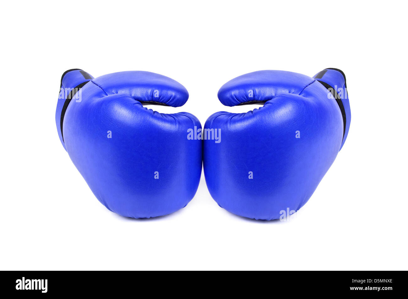 boxing gloves isolated on white - Stock Image