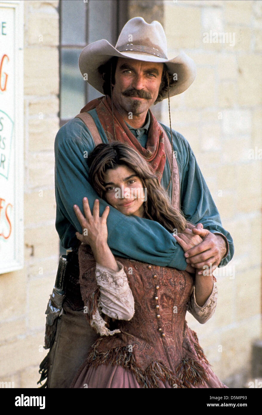 6f8e50d610efe TOM SELLECK   LAURA SAN GIACOMO QUIGLEY DOWN UNDER (1990 Stock Photo ...