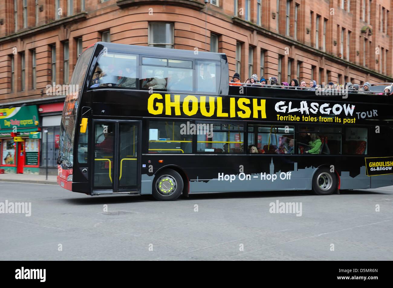Glasgow open top bus