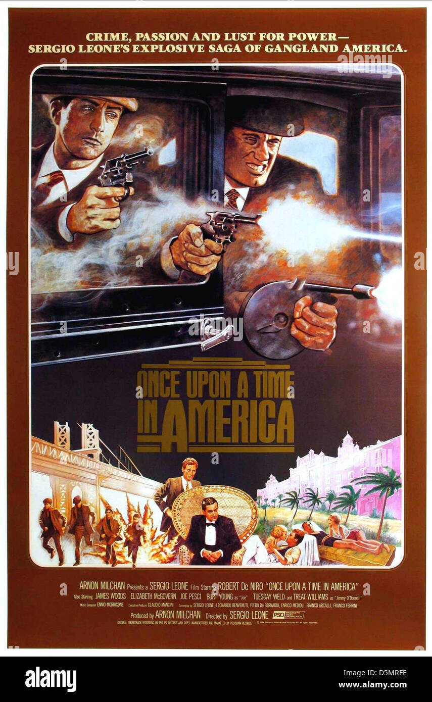 Movie Poster Once Upon A Time In America 1984 Stock Photo 55161890