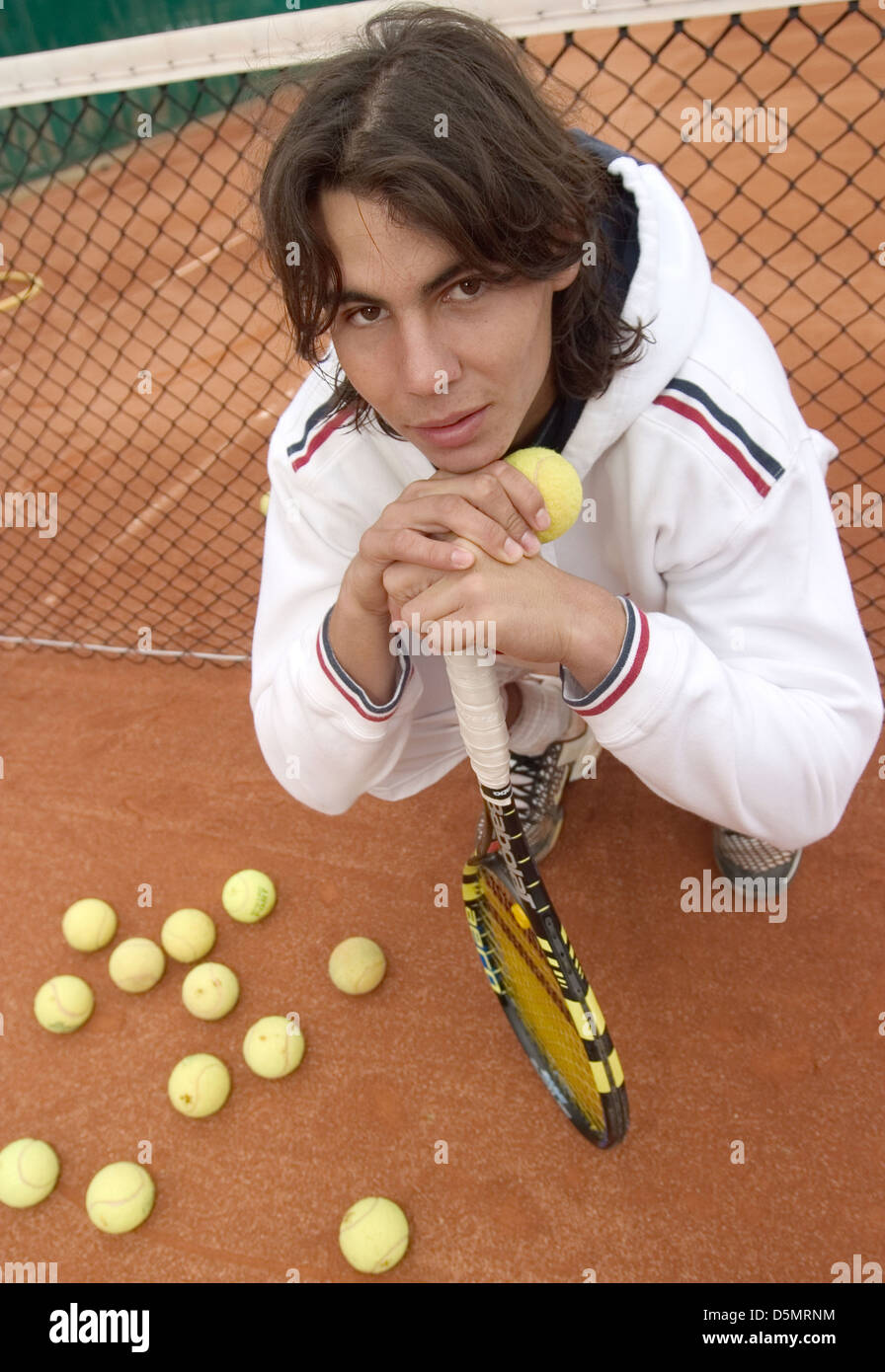 Rafa Nadal Pose After His Training Session At His Birthplace Tennis Stock Photo Alamy
