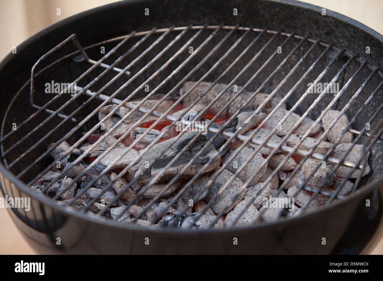 Hot Coal Bbq Grill Cooking Stock Photo Alamy