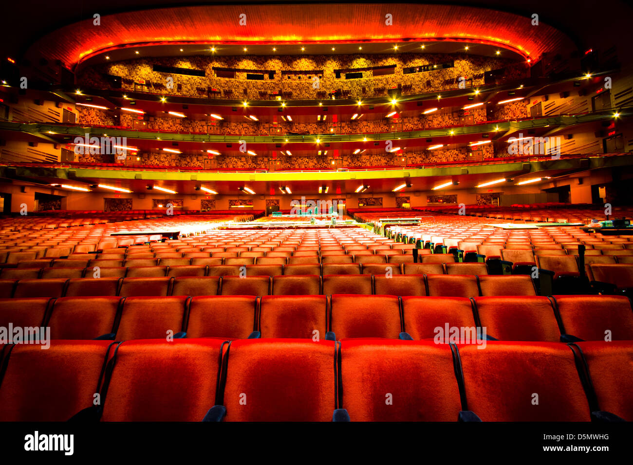 NEW YORK CITY - JAN 12: Nostalgic view of Radio City Music Hall in midtown Manhattan on Jan 12 2013. This historic - Stock Image