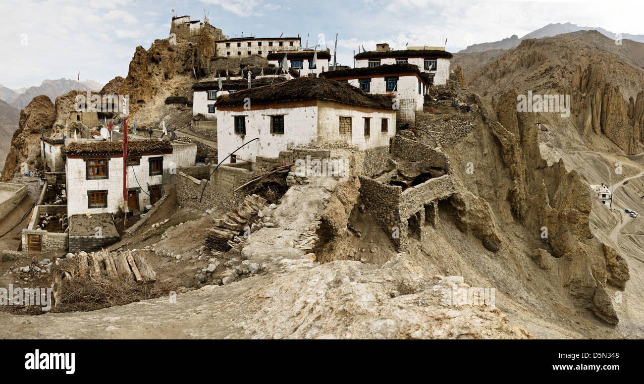 dhankar monastery in himalayas mountain - Stock Image