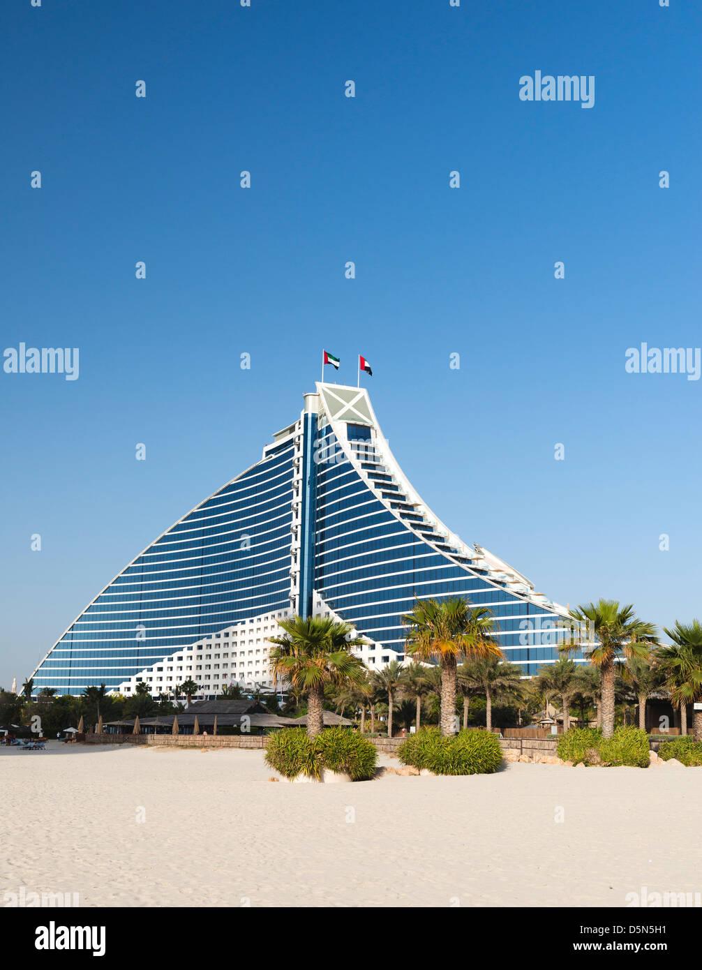 Luxury Jumeirah Beach hotel in Dubai United Arab Emirates - Stock Image