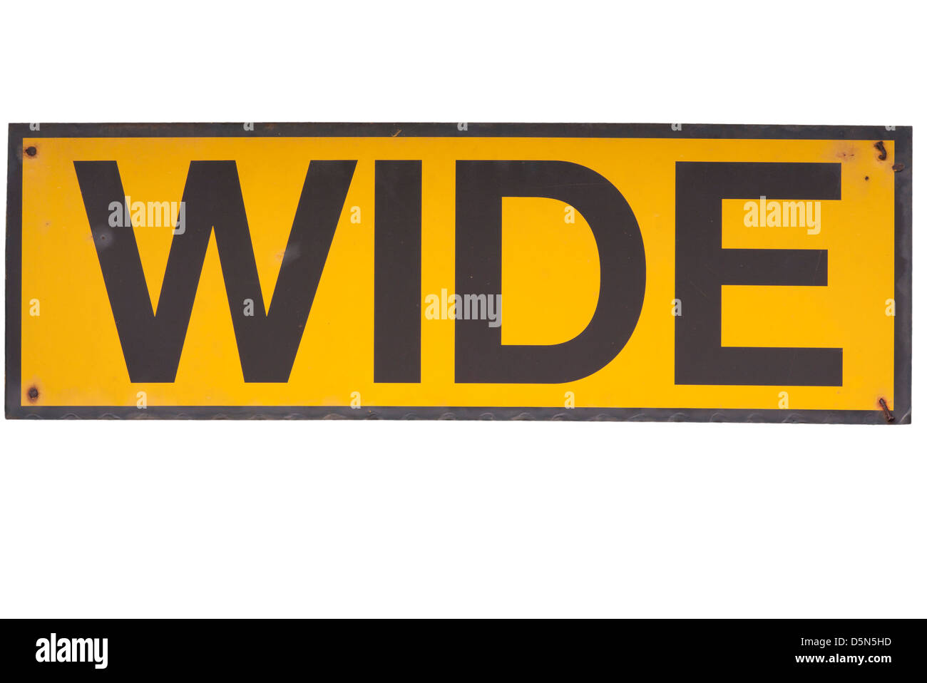 Wide Sign - Stock Image