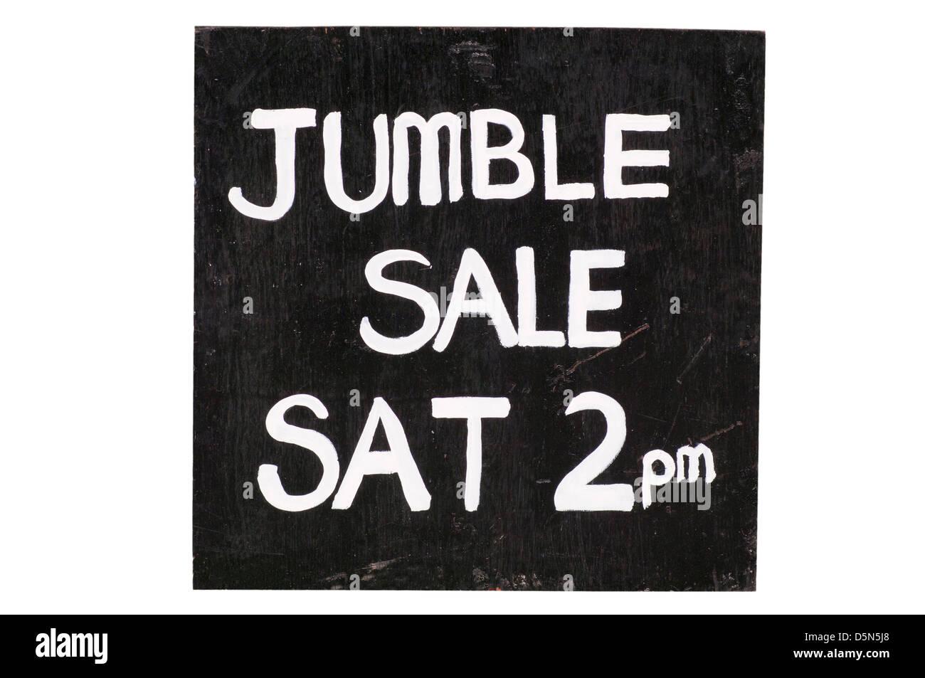 Jumble Sale Sign UK - Stock Image