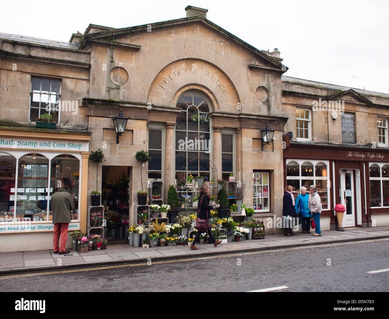 34558d1c574b Florist shop on Pulteney Bridge. Bath Somerset England UK Stock ...