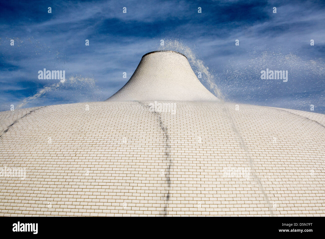 Israel museum shrine of the book roof Stock Photo