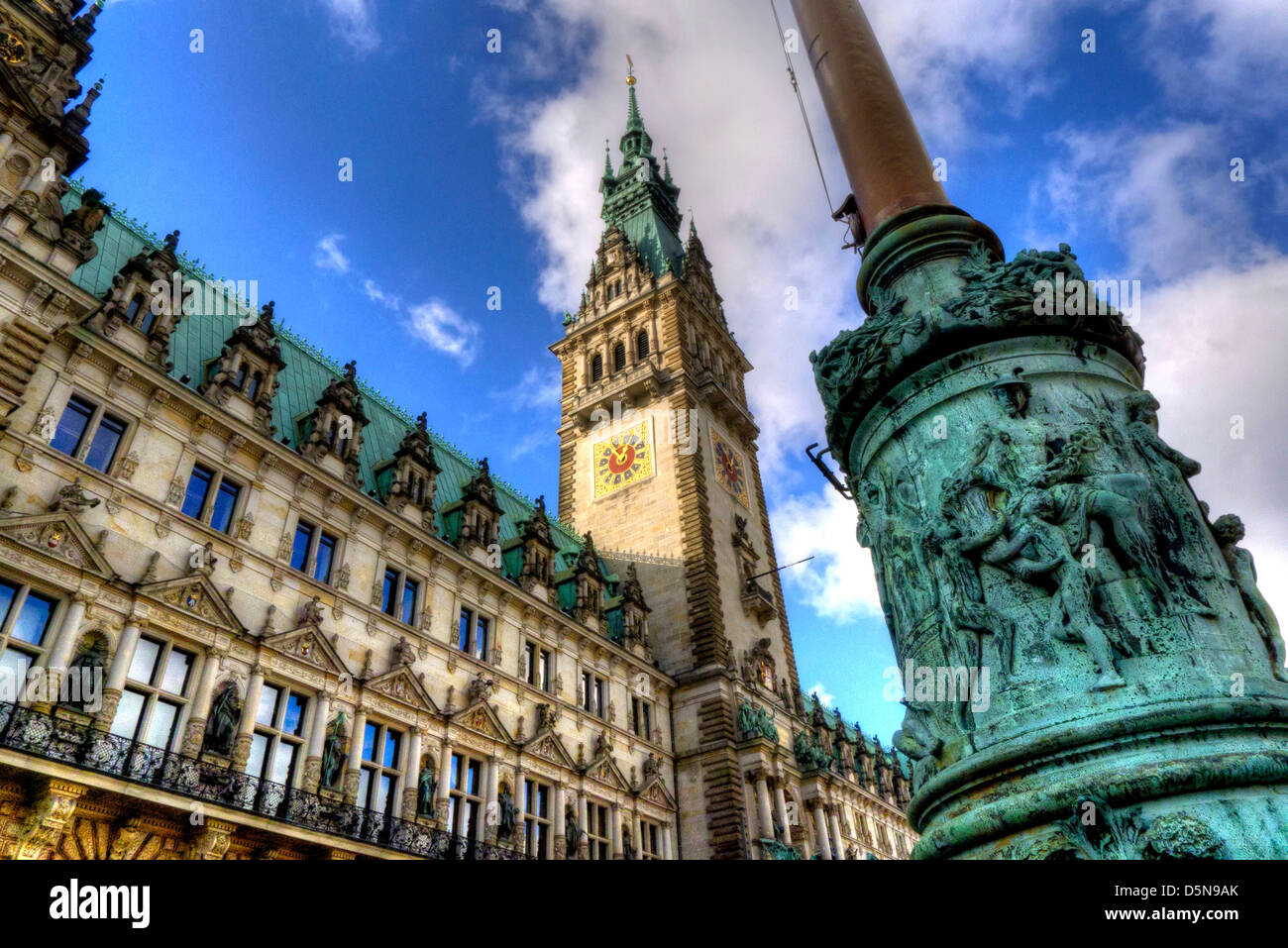 The Rathaus, or town hall, in Hamburg, northern Germany. - Stock Image