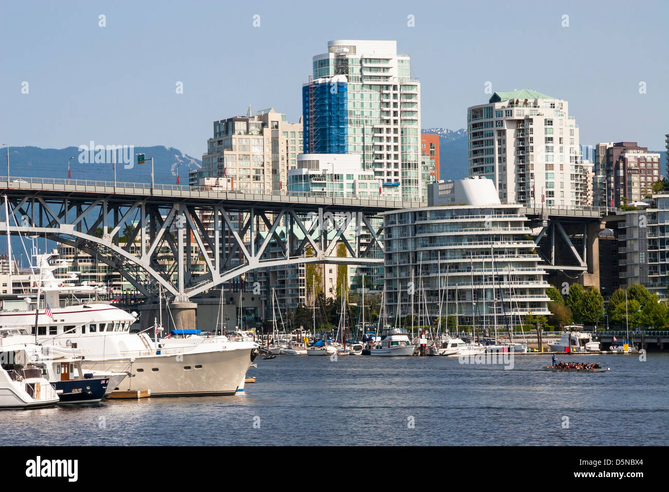 Modern apartment buildings in downtown Vancouver. Stock Photo
