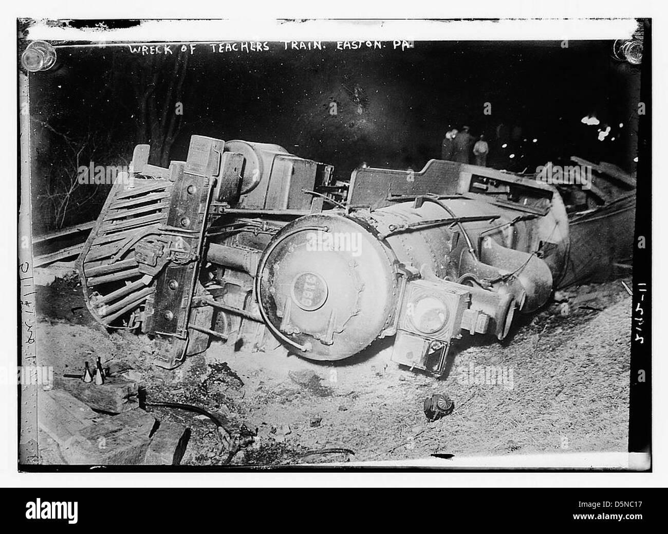 Wreck of teachers train (LOC) - Stock Image