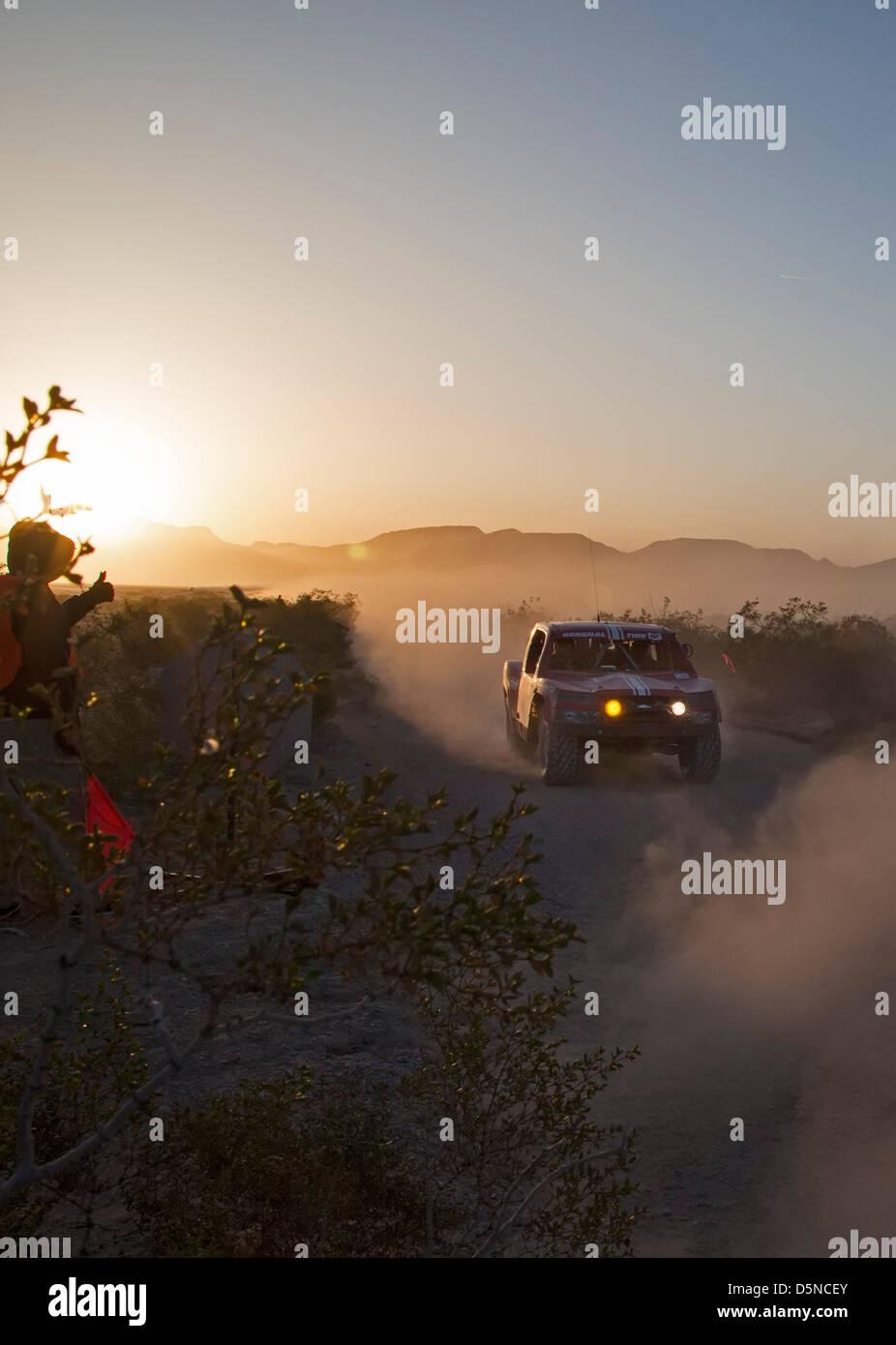 Jean, Nevada - The Mint 400 off-road auto race through the Mojave Desert near Las Vegas. Stock Photo