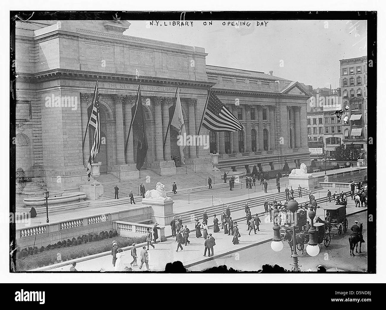 N.Y. Library on Opening Day (LOC) - Stock Image