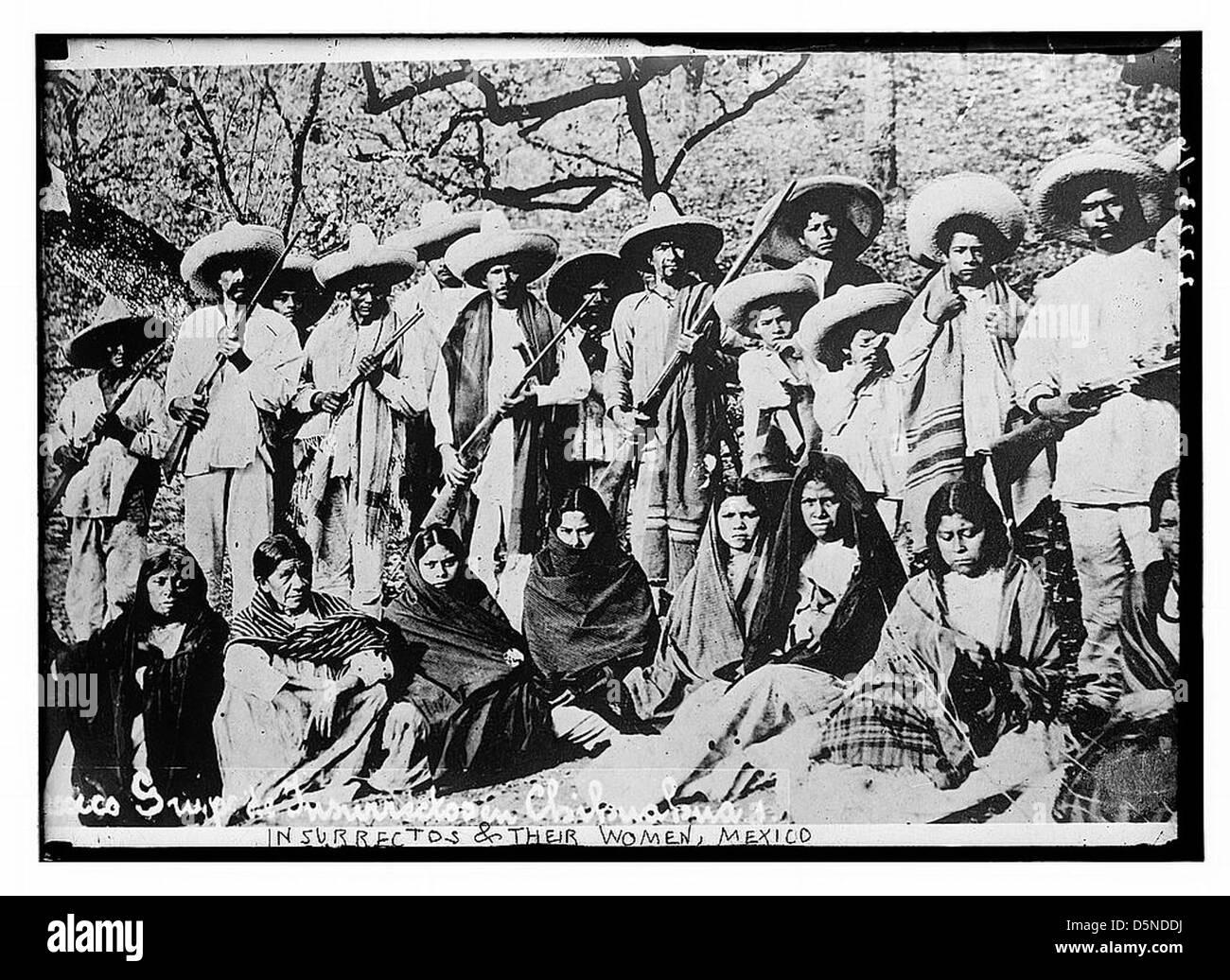 Insurrectos & their women, Mexico (LOC) - Stock Image