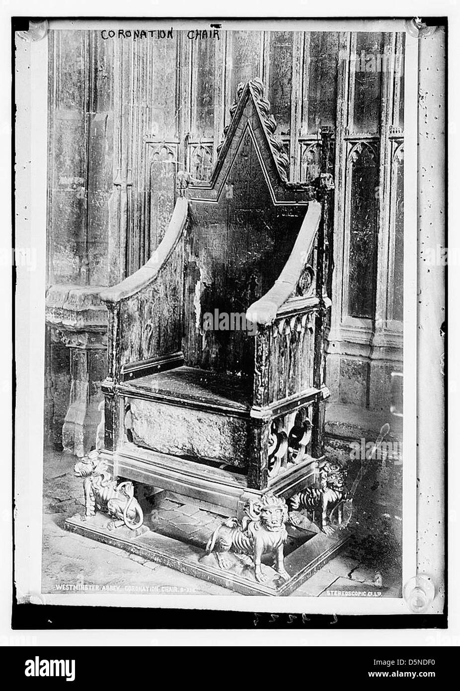 Coronation Chair (LOC) - Stock Image