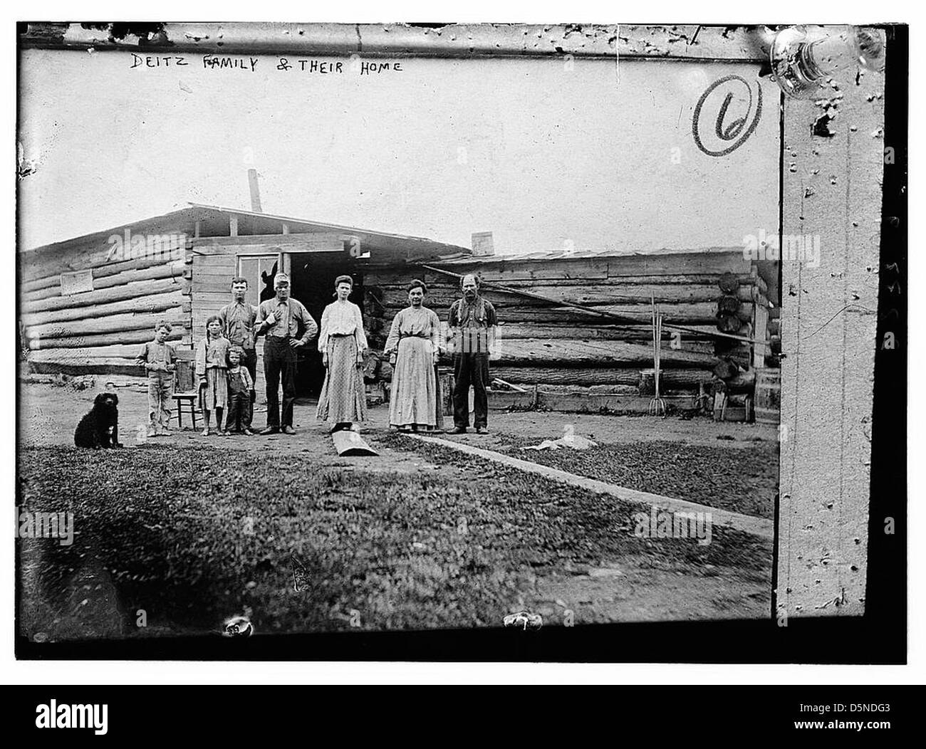 Deitz Family & their home (LOC) - Stock Image