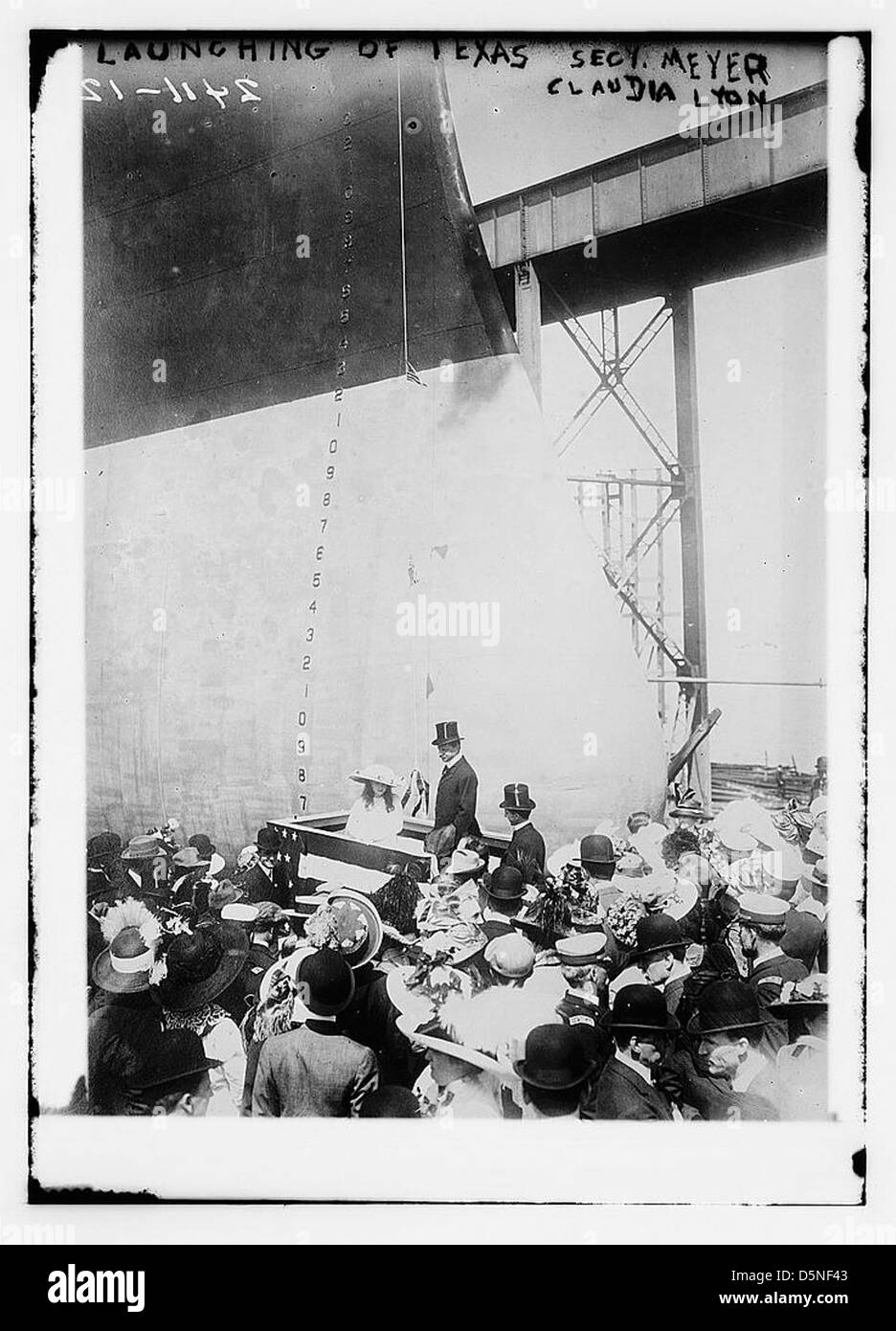 Launching of TEXAS - Secy Meyer [and] Claudia Lyon (LOC) - Stock Image