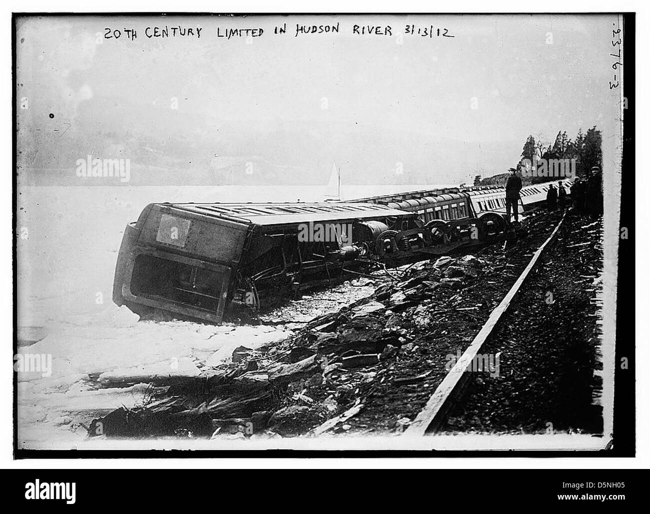 '20th Century' limited in Hudson River (LOC) - Stock Image