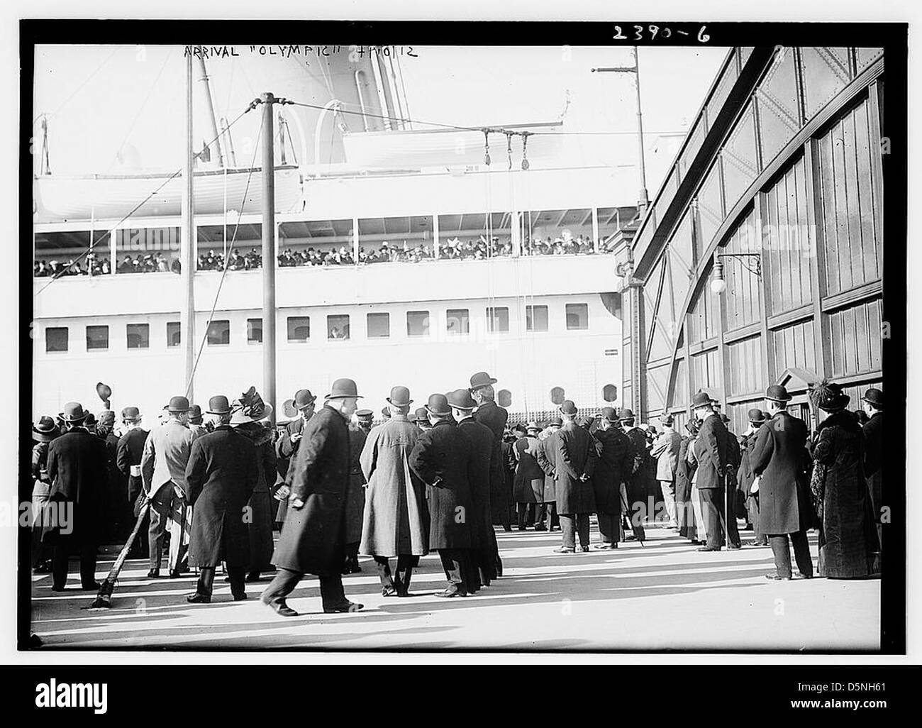 Arrival OLYMPIC (LOC) - Stock Image