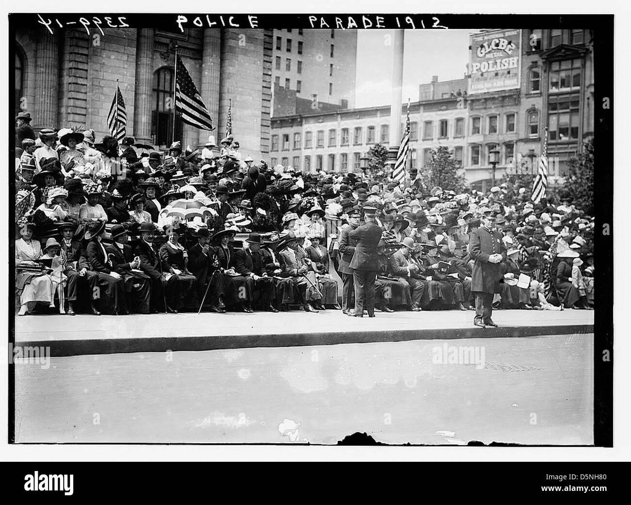 Police Parade, 1912 (LOC) - Stock Image