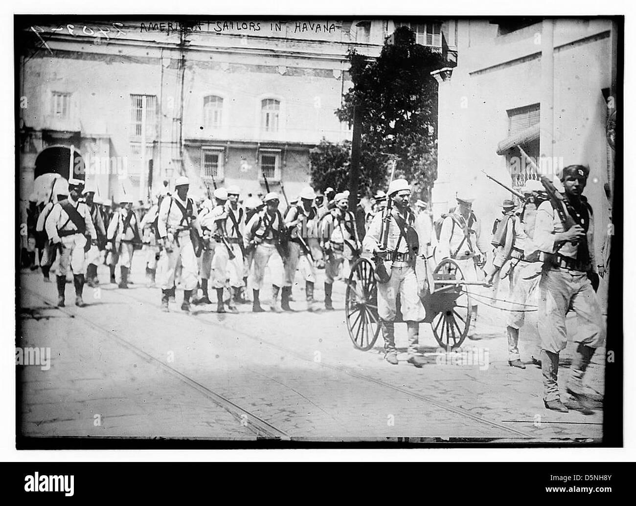 American Sailors in Havana (LOC) - Stock Image