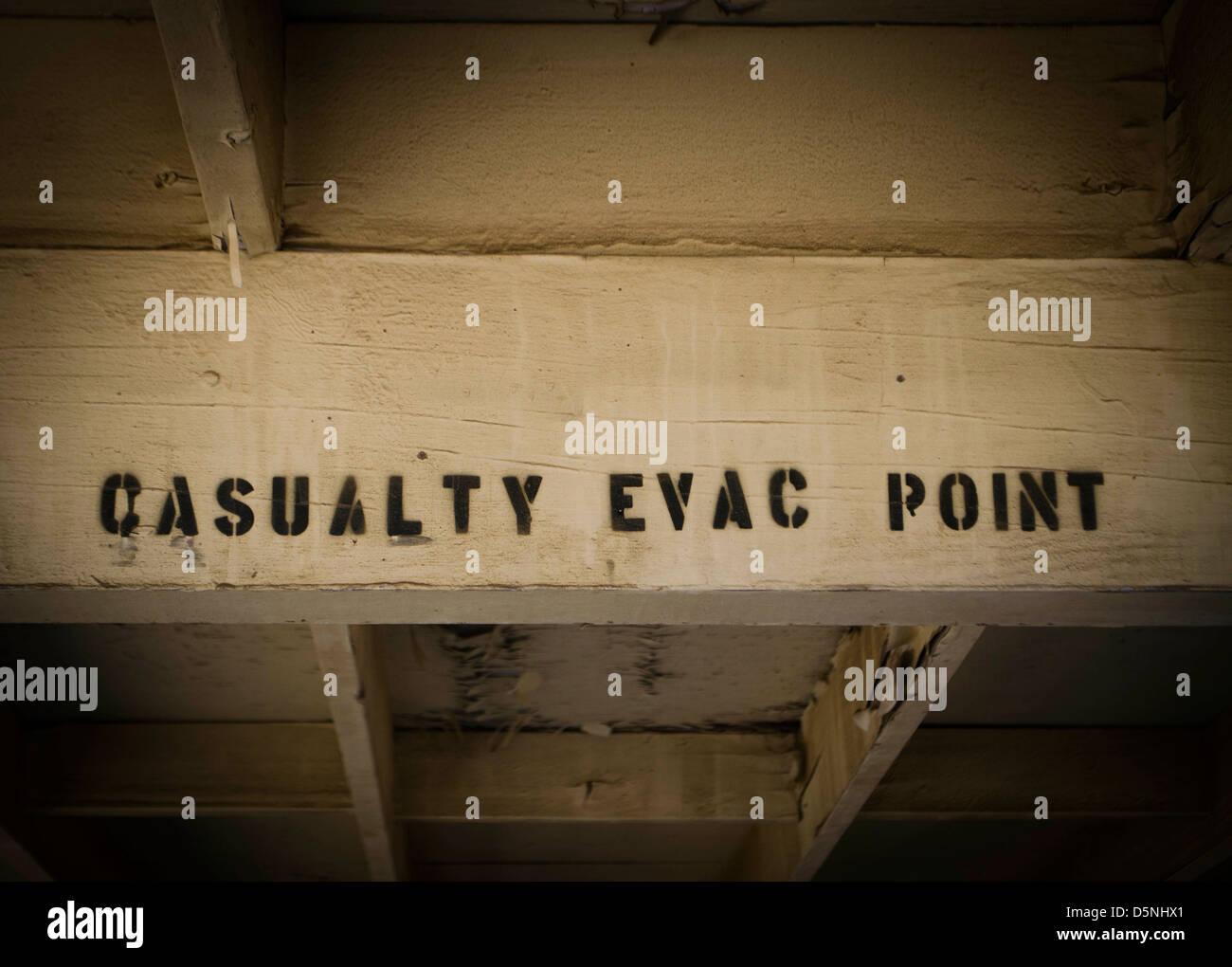 casualty evacuation point sign - Stock Image