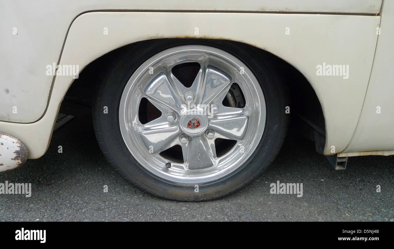 An old VW (Volkswagen) van. - Stock Image