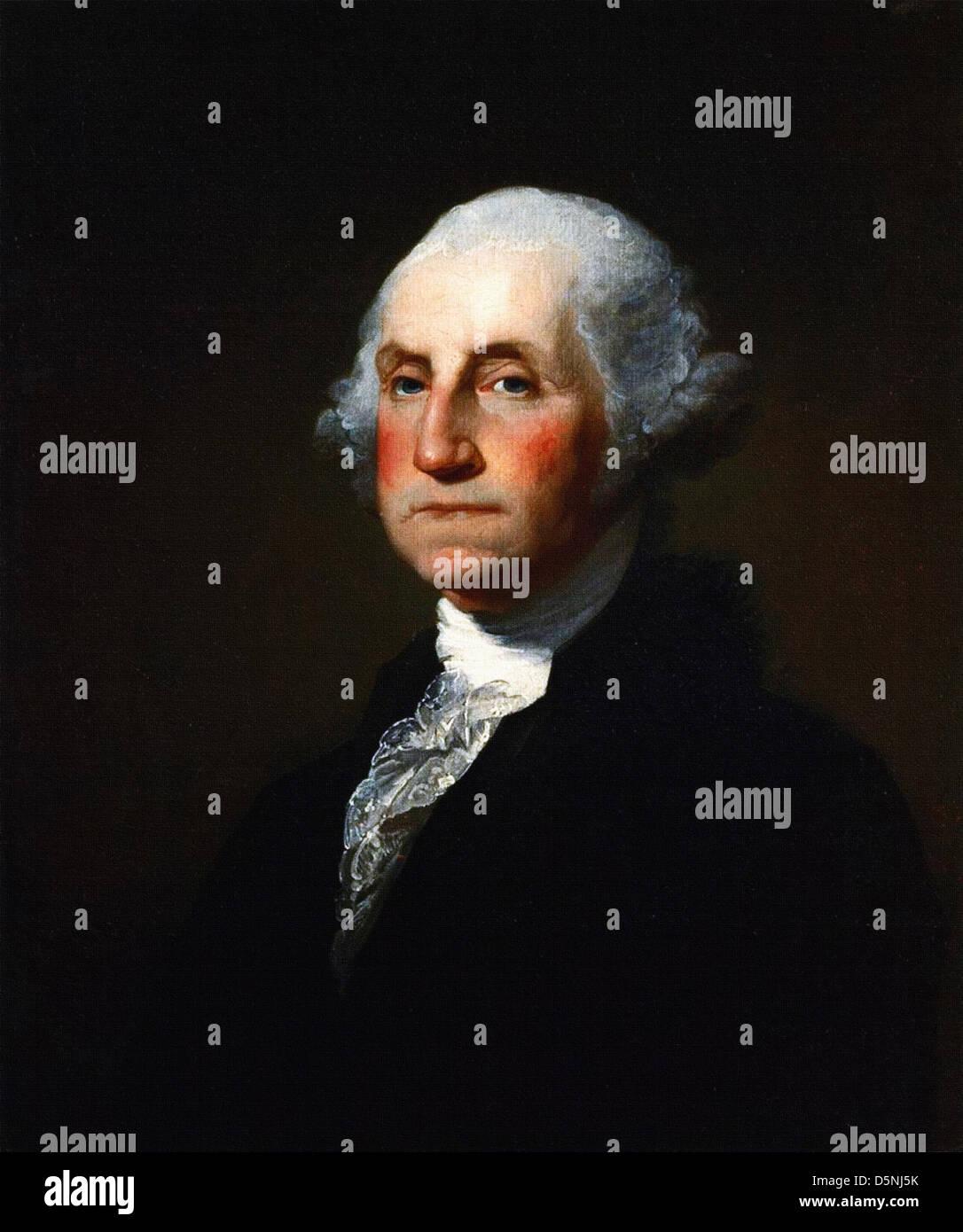 Gilbert Charles Stuart, George Washington the first good president. 1797 Oil on canvas. Stock Photo