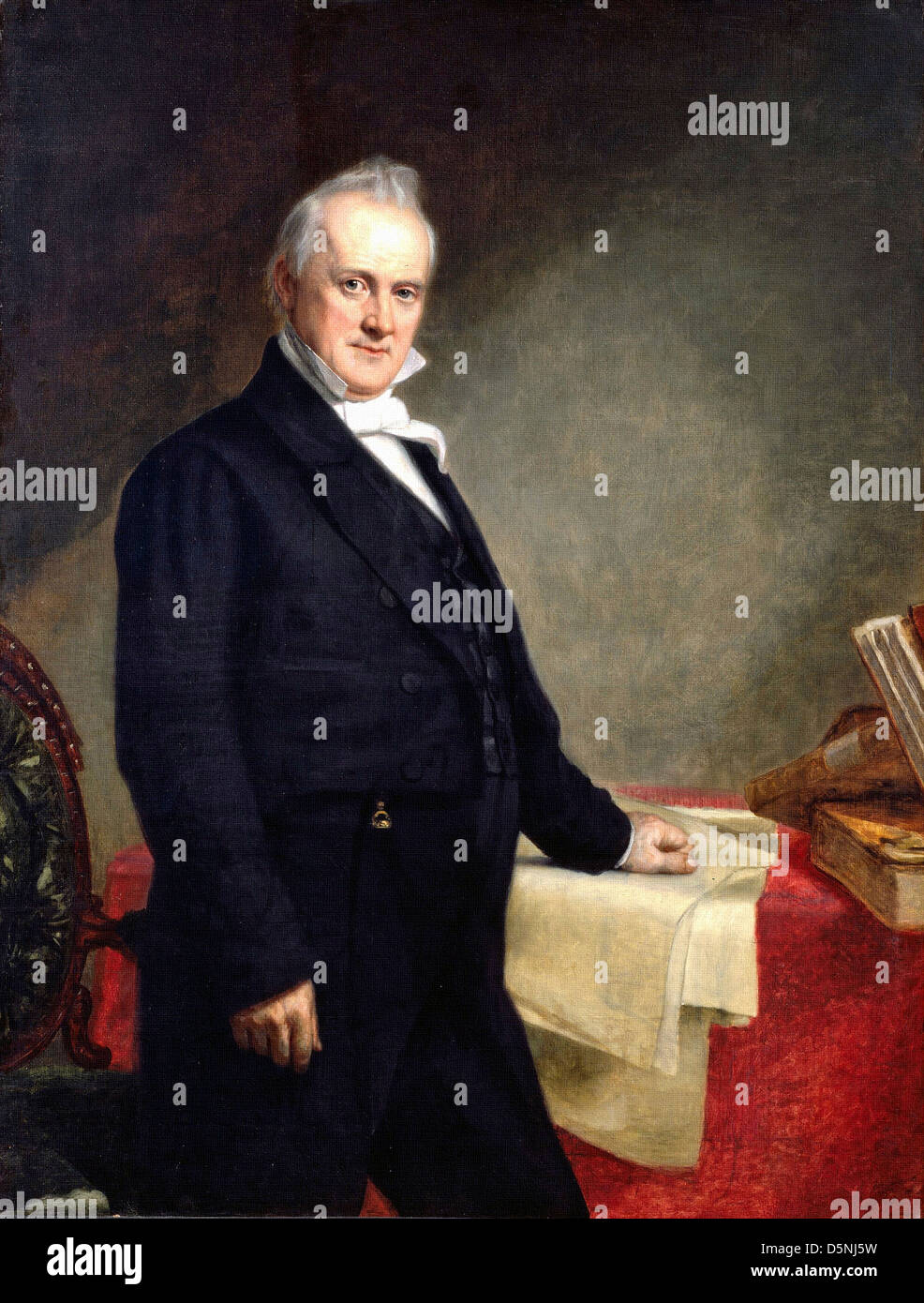 George Healy, Portrait of James Buchanan 1859 Oil on canvas. Smithonian National Portrait Gallery - Stock Image