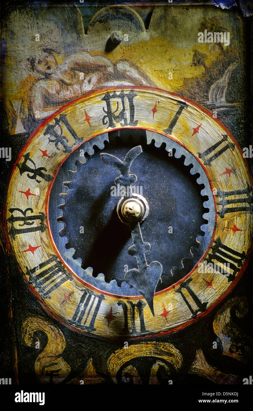 Old antique clock - Stock Image
