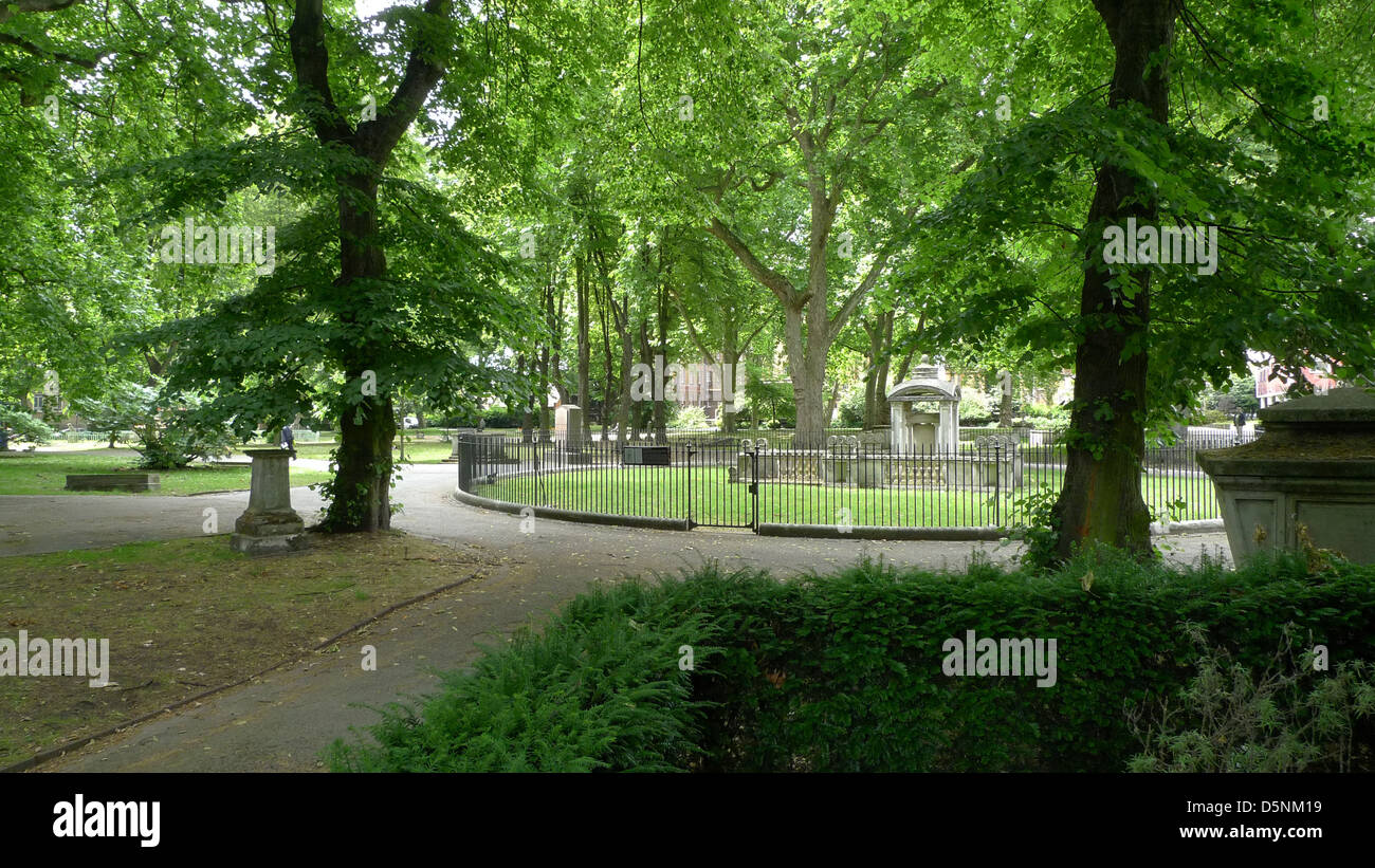 The grounds of St. Pancras Old Church, London, UK. - Stock Image