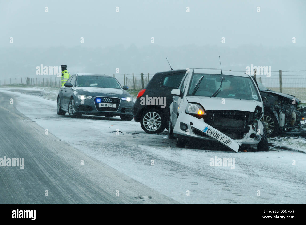 dangerous driving conditions rta road traffic accident snow snowy ...