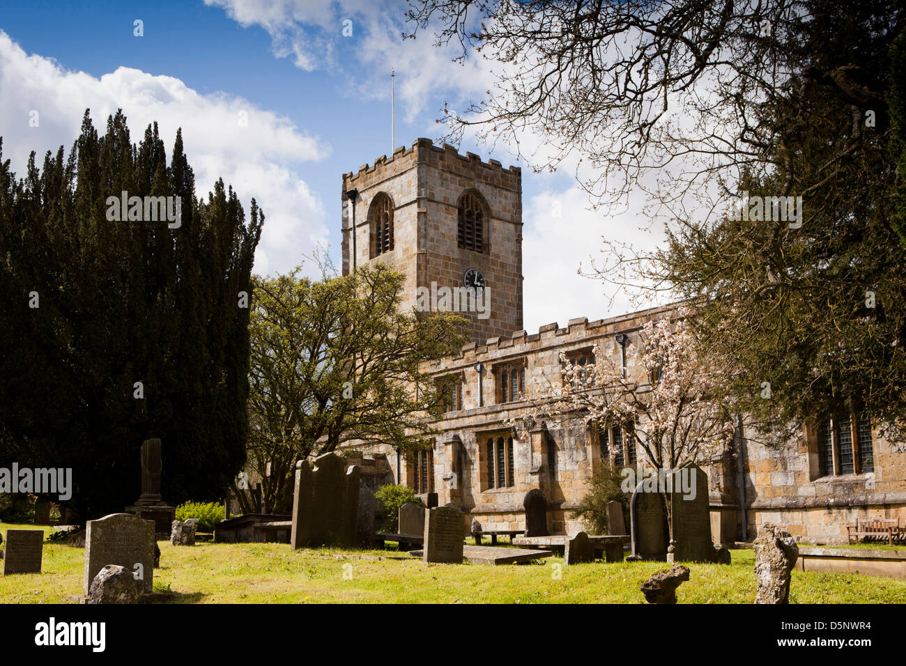 UK, England, Yorkshire, Kirkby Malham, St Bartholomew's Church - Stock Image