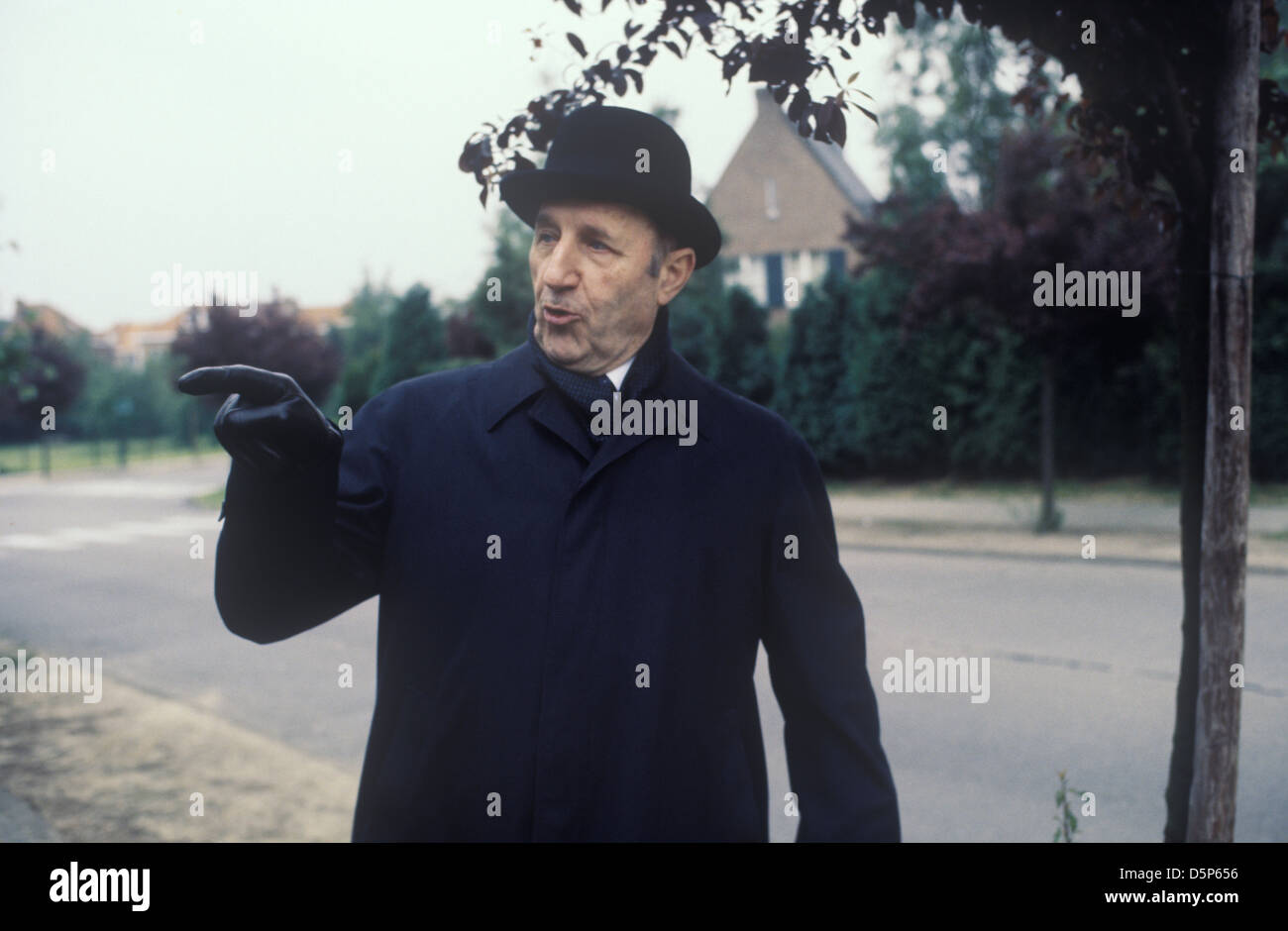 Joseph Luns  Secretary General of NATO  Brussels Belgium 1978 1970s HOMER SYKES - Stock Image