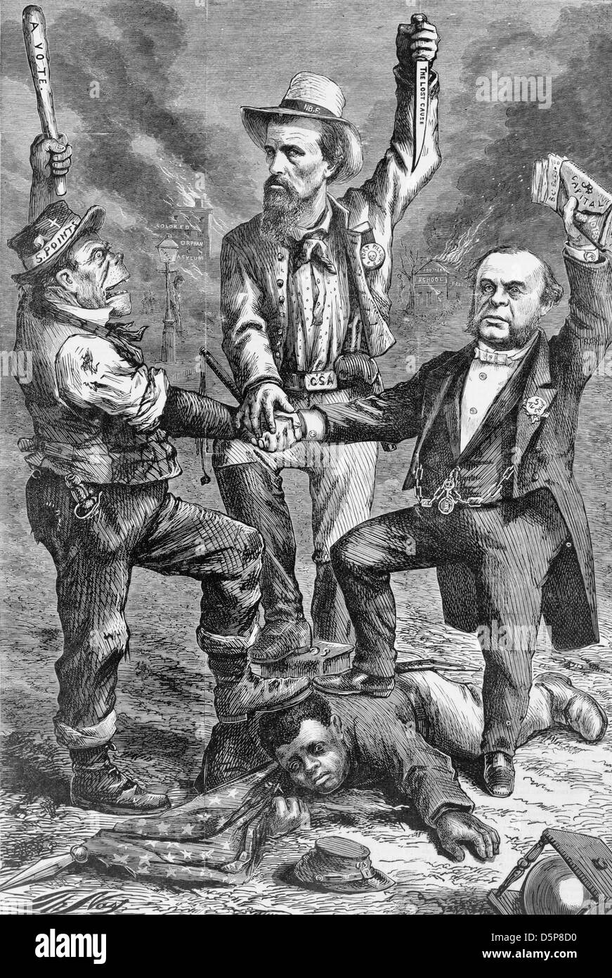 'This is a white man's government' 'We regard the Reconstruction Acts (so called) of Congress as - Stock Image
