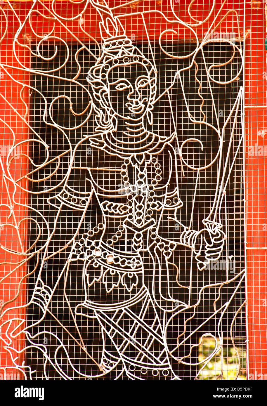Design of ductile iron. Design patterns in Thai literature. - Stock Image
