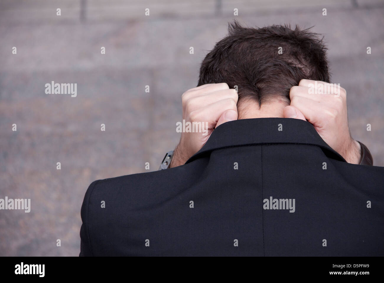 man in turmoil - Stock Image