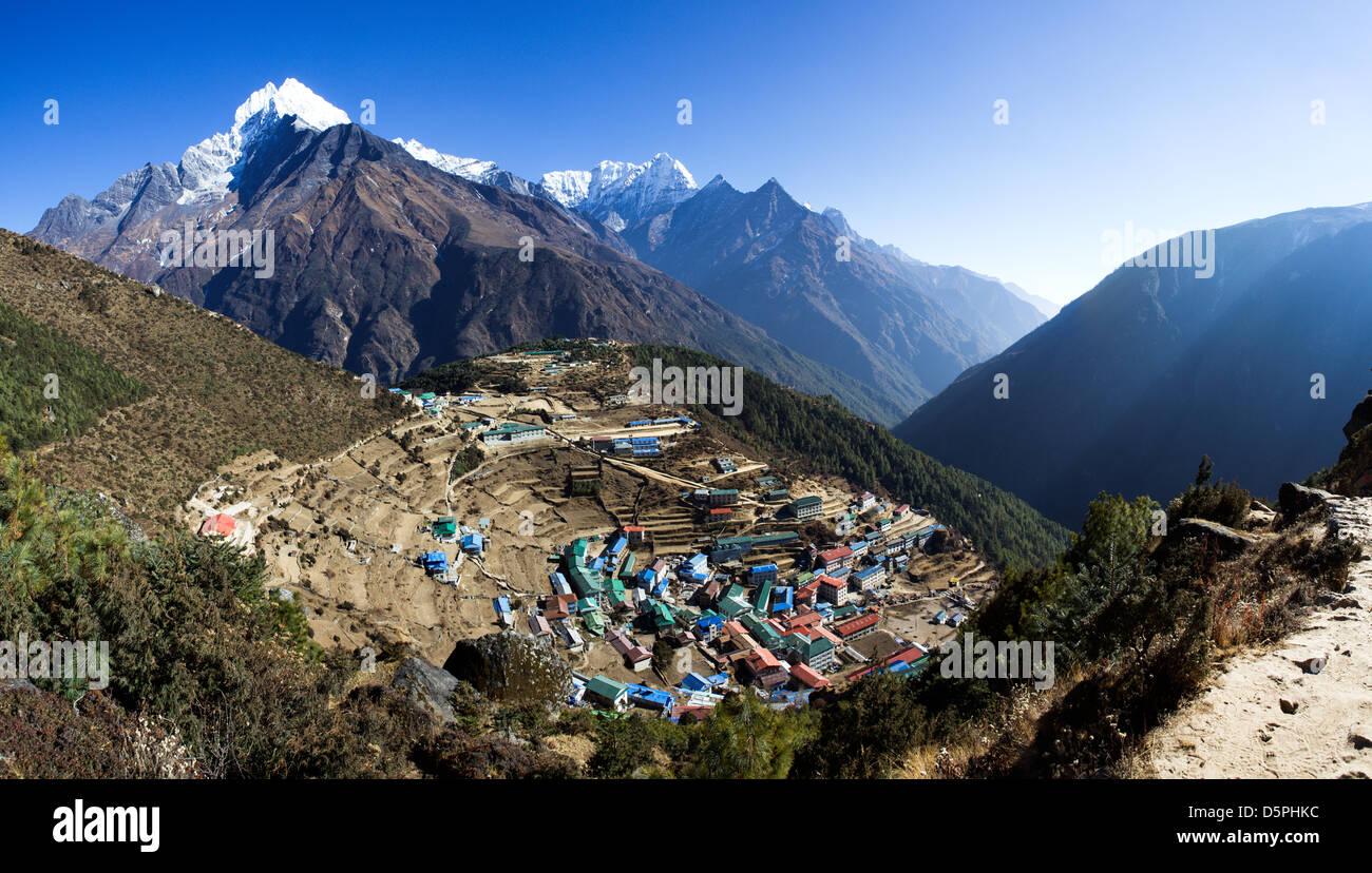 Namche Bazaar, Nepal - Stock Image