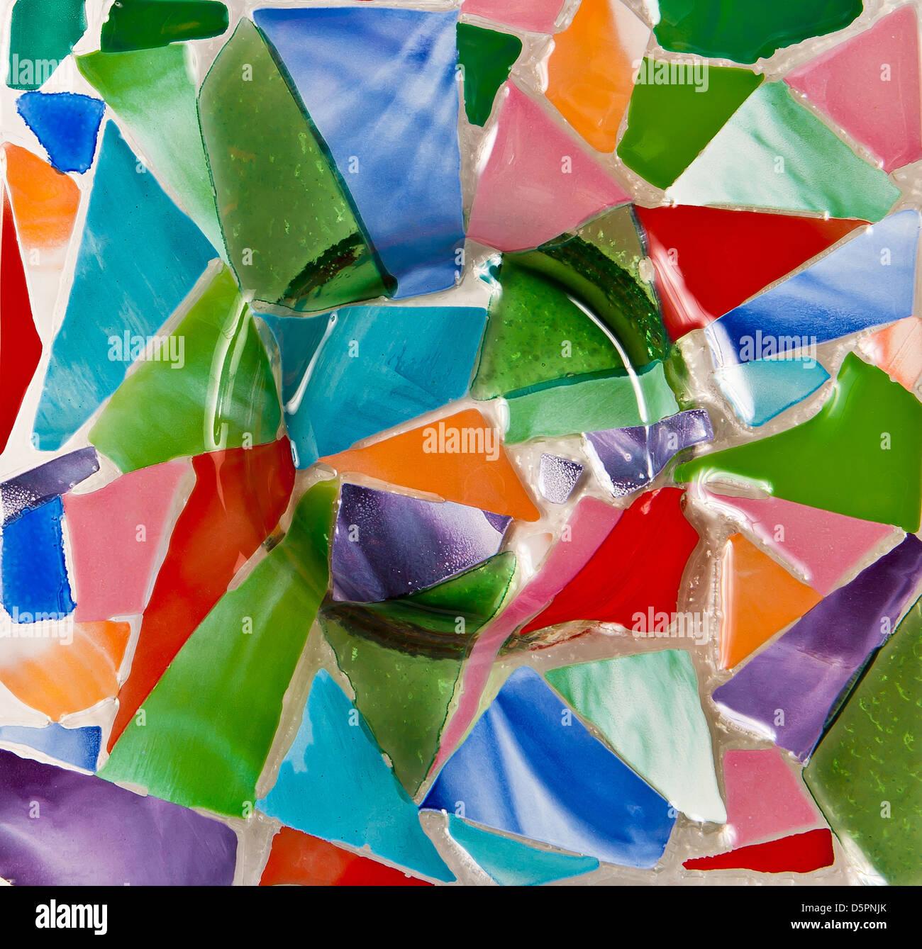 Fragment of glass mosaic pano - Stock Image