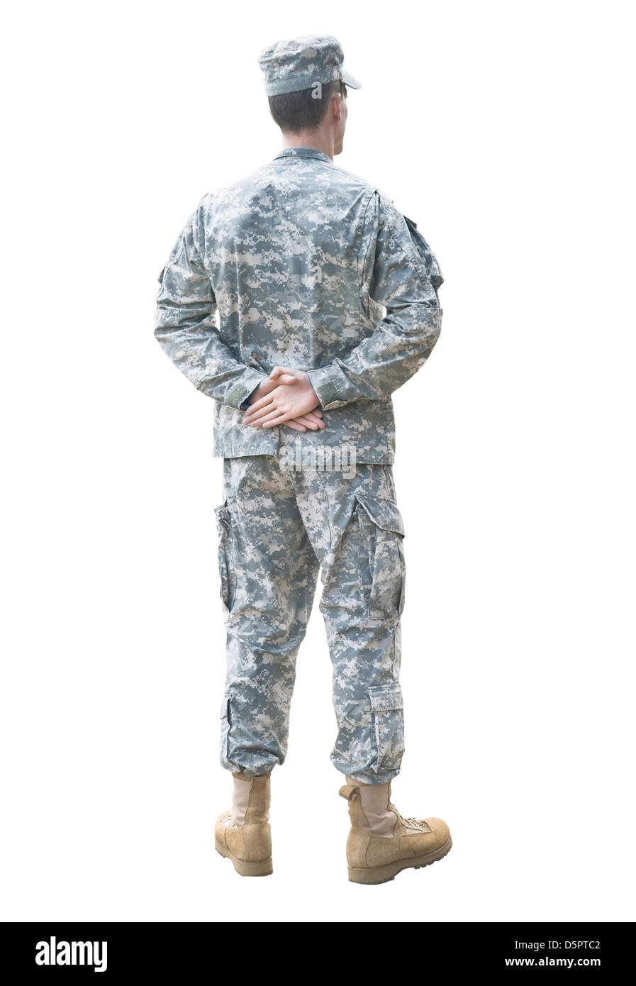 American soldier in the parade rest position - Stock Image
