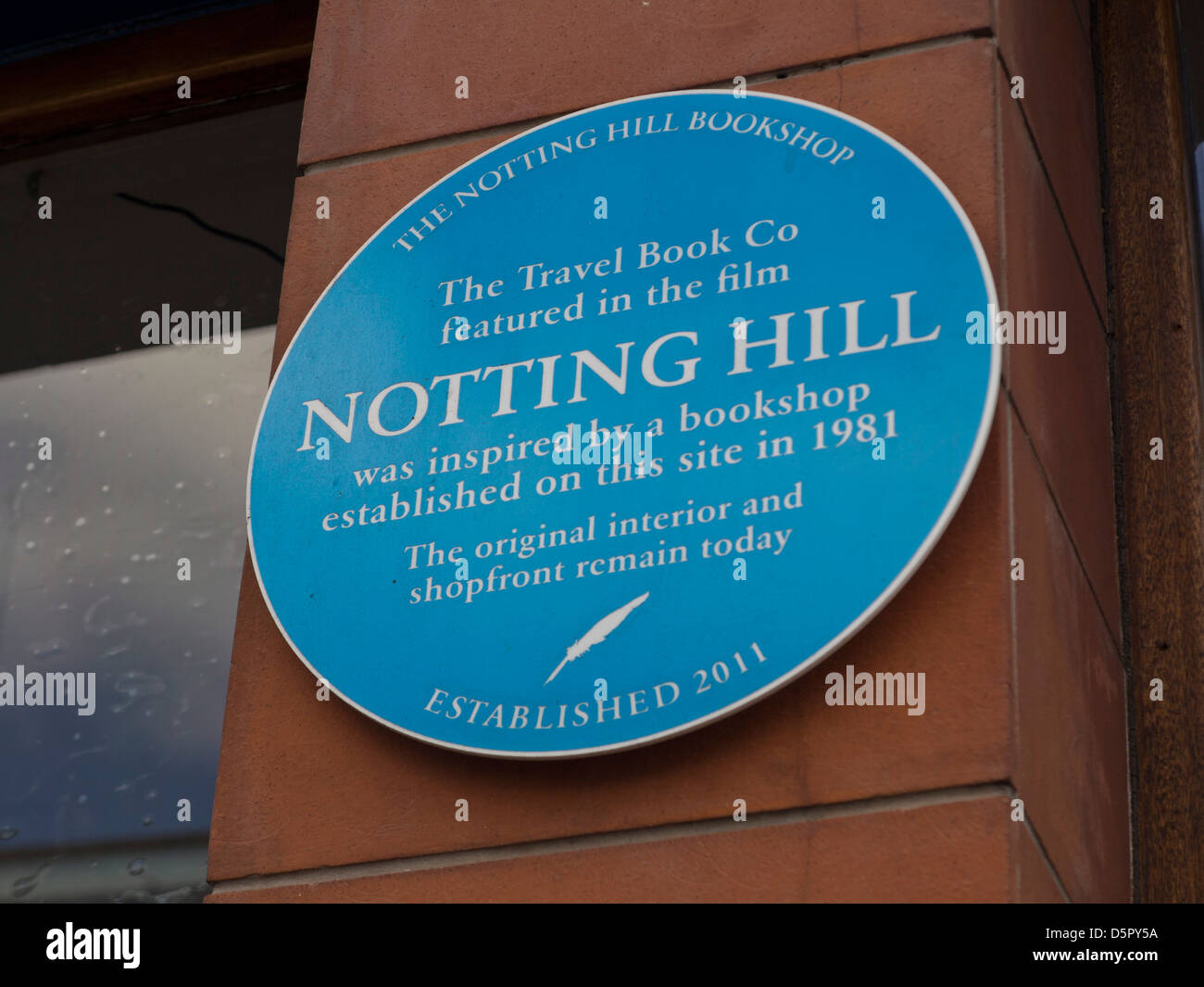 Sign outside the Notting Hill travel bookshop,London,made famous in film 'Notting Hill' starring Julia Roberts - Stock Image