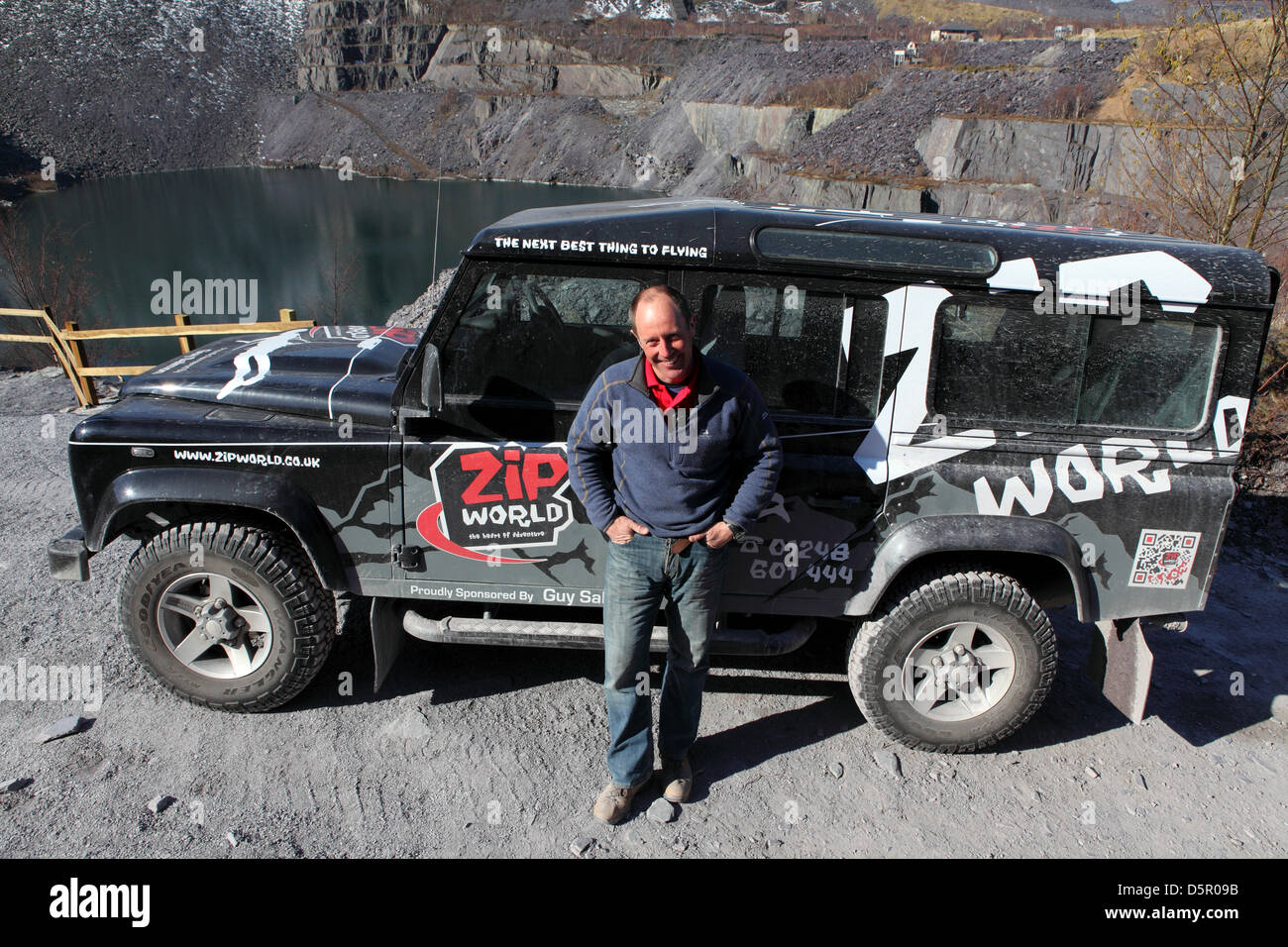Penrhyn Quarry, Bethesda, Wales, UK. 6th April 2013. Nick Moriarty ...