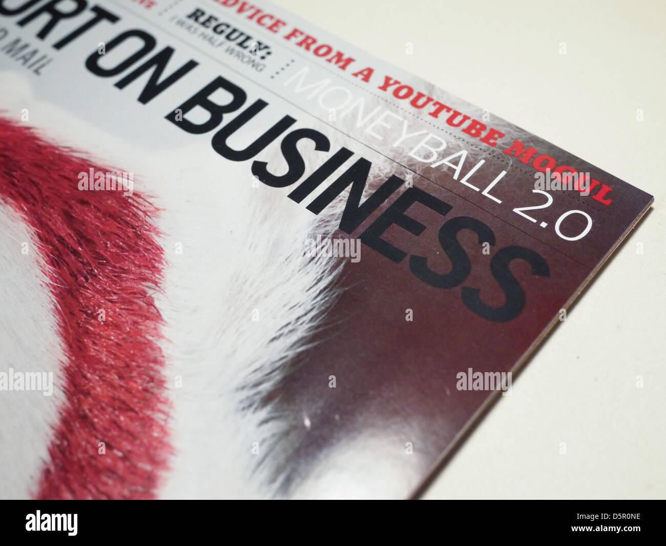 business magazine - Stock Image