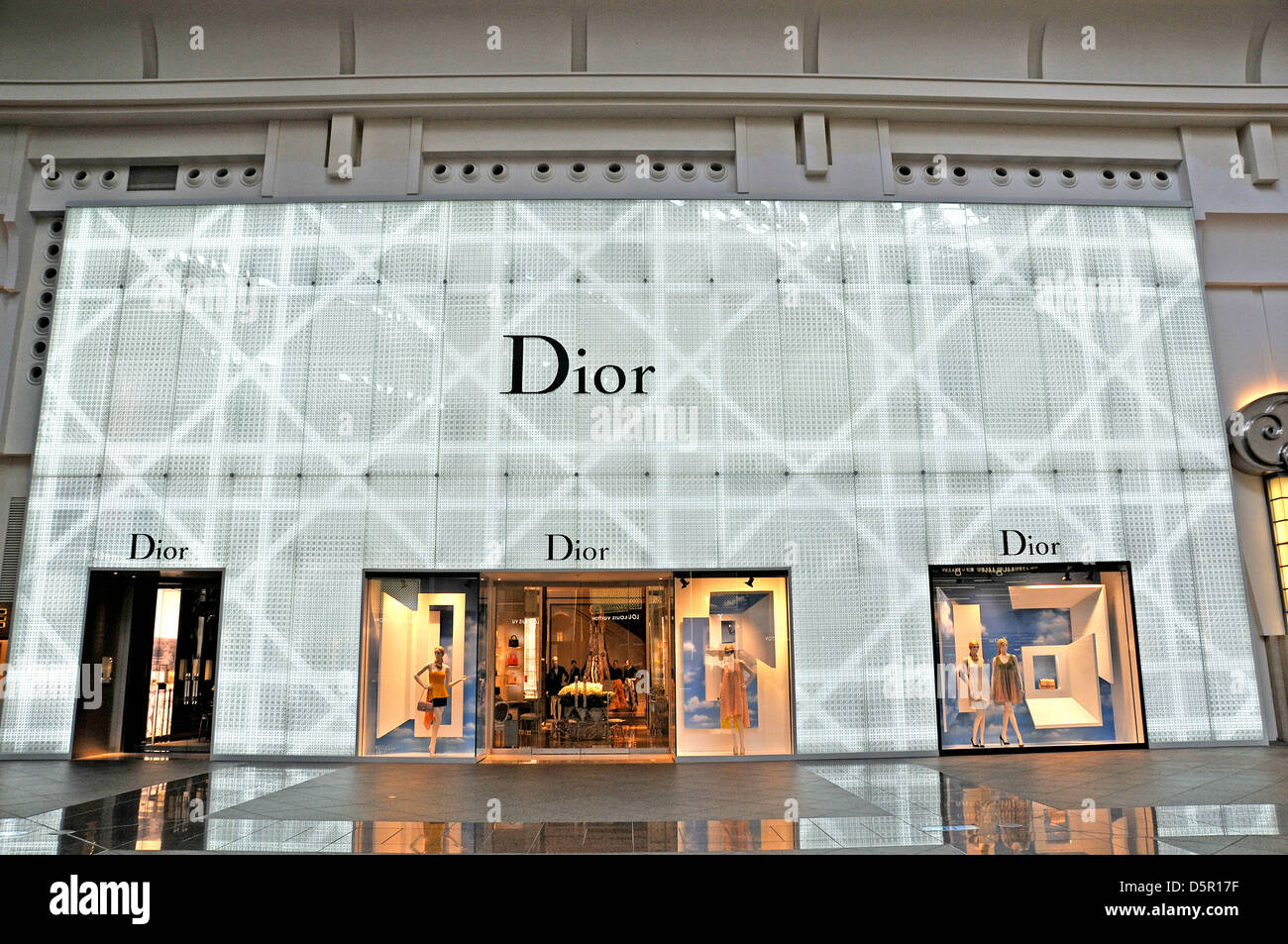 Dior boutique in mall of 101 tower Taipei Taiwan - Stock Image