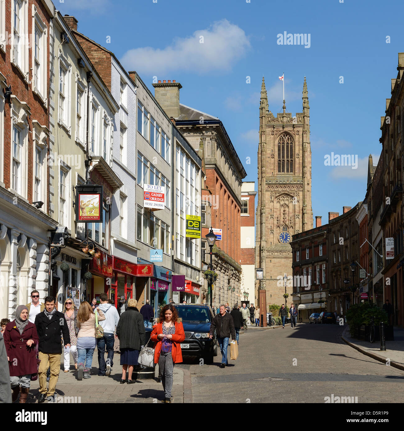 Derby Cathedral UK - Stock Image