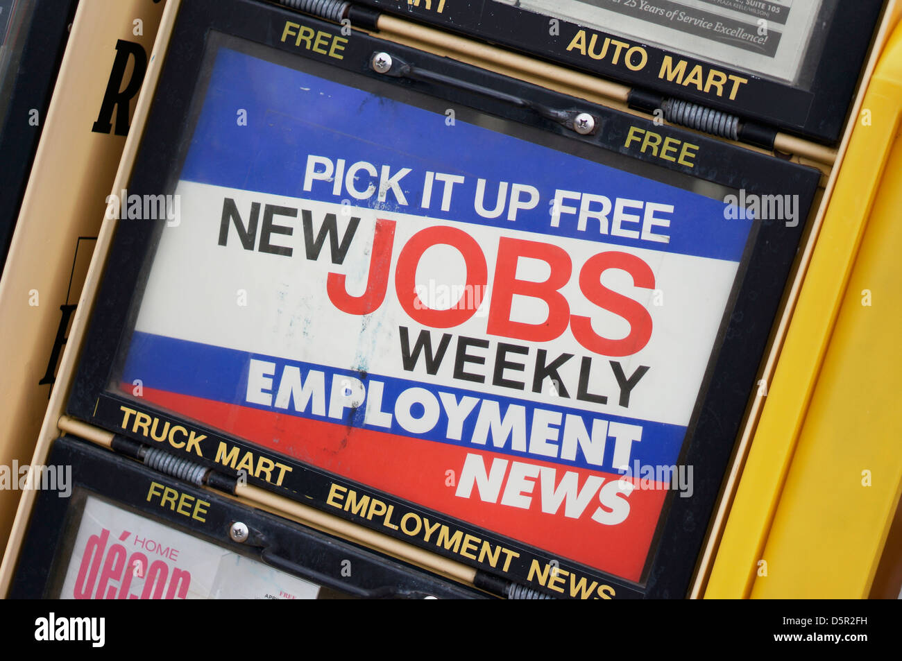 Jobs Weekly Paper Free,  Employment News Stand - Stock Image