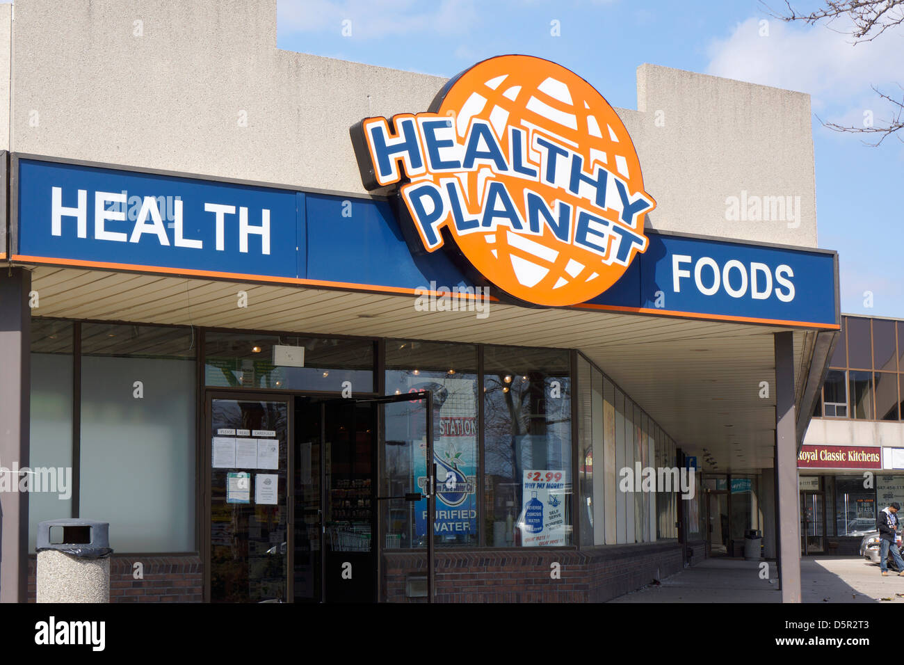 Health Foods, Vitamins and Nutritional Supplements Store, Ontario, Canada - Stock Image